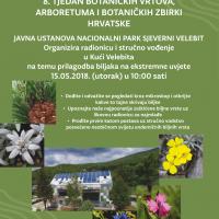"""Osmi """"Tjedan botaničkih vrtova, arboretuma i botaničkih zbirki"""